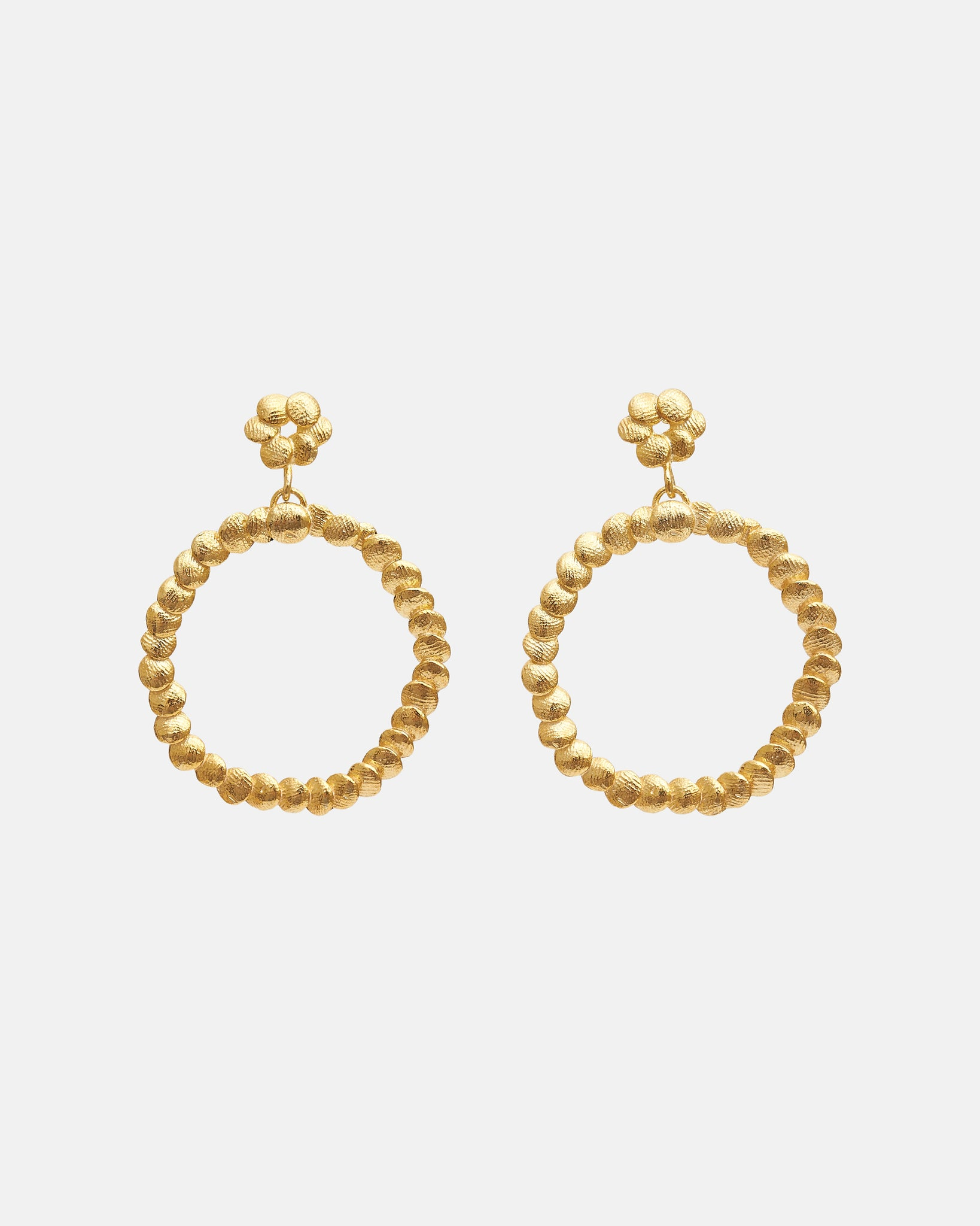 DOUBLE CIRCLE EARRINGS - GOLD