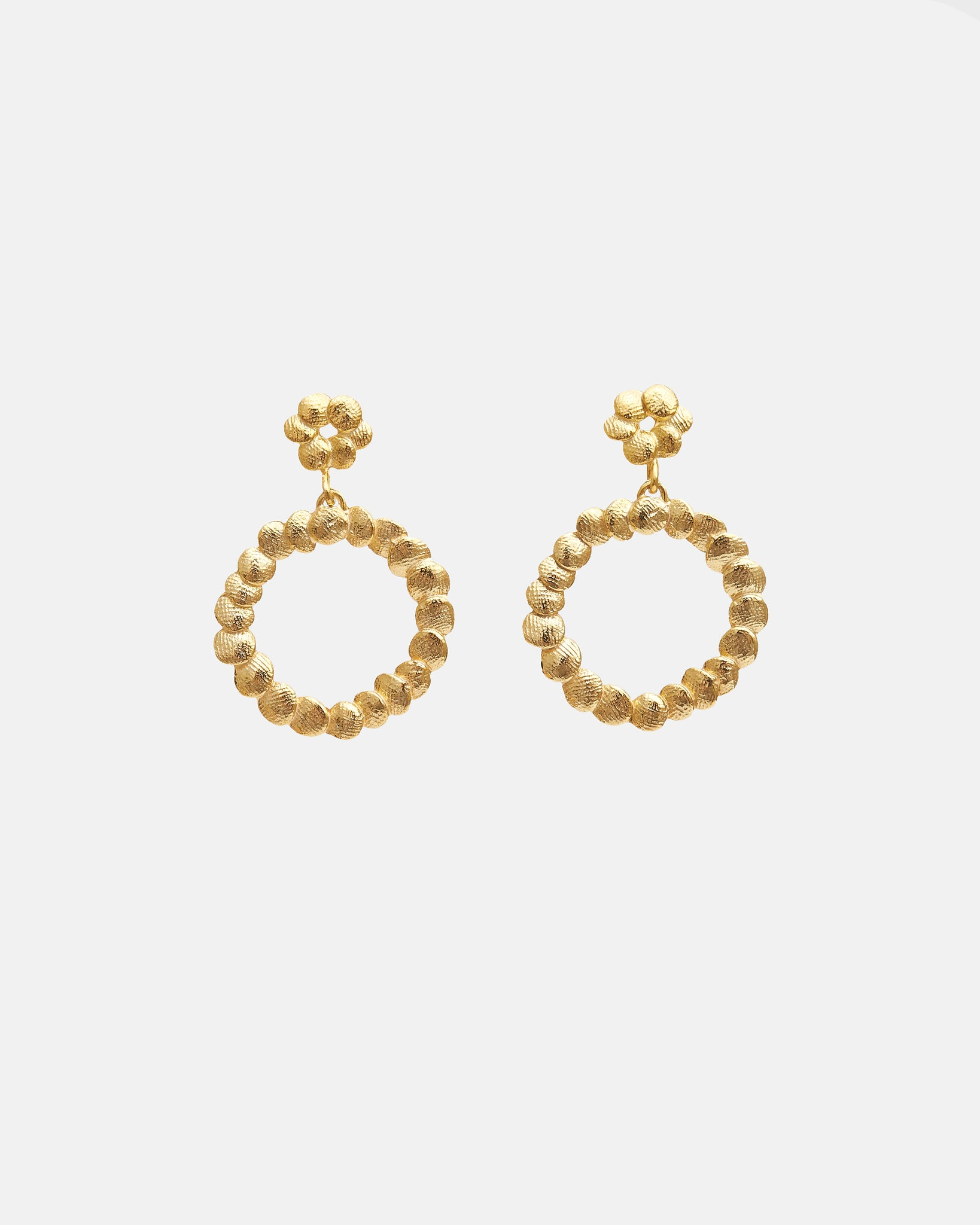MINI DOUBLE CIRCLE EARRINGS - GOLD