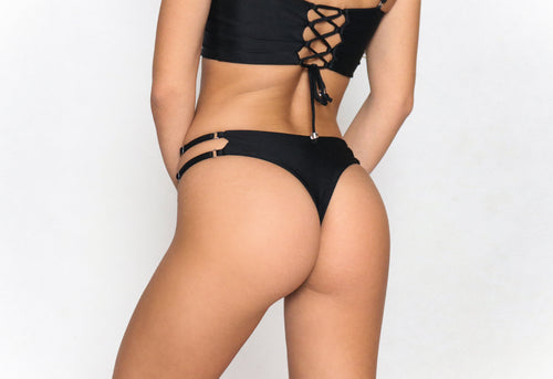 Alexa Thong Bottom Black