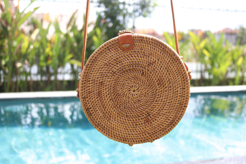 Round Ata Grass Bag Natural