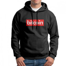 Bitcoin Box Logo Cryptocurrency Men Hooded Sweatshirt Vintage Pure Cotton Hoodies New Arrival Hooded Tops  - Crypto Kicks