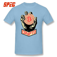 Bitcoin Crypto Cryptocurrency T Shirts Plus Size 100% Cotton Big Size T-Shirt Men Short Sleeve O-Neck Tees Plus Size  - Crypto Kicks