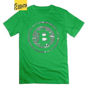 Bitcoin Cryptocurrency Crypto Currency Financial Revolution T-Shirt Novelty Large Size Mens 100% Cotton T-Shirt Tees  - Crypto Kicks