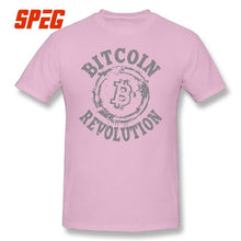 Bitcoin Revolution Cryptocurrency Mens Vintage T-Shirt Crewneck Short Sleeves Tees Pure Cotton Graphic Clothing T Shirt  - Crypto Kicks