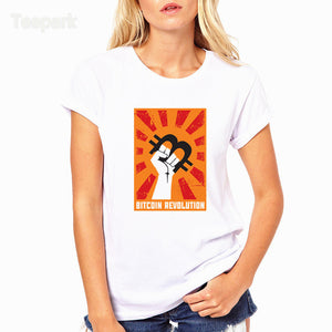 Bitcoin revolution Poster Fashion Summer Women T-shirt tops Short Sleeve Tops Clothing O-neck T shirt For Women HWP4203  - Crypto Kicks