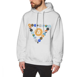 Digital Currencies In Triangle Hoodies Bitcoin Hoodies For Male Streetwear Tee Cotton Top design  - Crypto Kicks