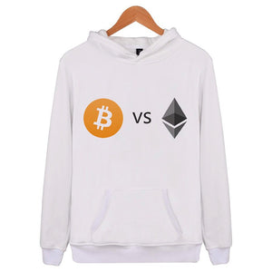 Ethereum VS Bitcoin Hoodies Men Hip Hop Streetwear Male Sweatshirt 2018 Brand Autumn Winter New Mens Hoodie plus Size E4174  - Crypto Kicks