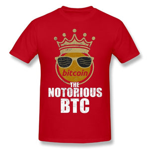 Fashion Streetwear Man Funny Bitcoin Cryptocurrency Crypto Crown The Notorious BTC T-Shirts Brand Tee Shirts  - Crypto Kicks
