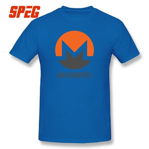 MONERO Crypto T-shirts Cryptocurrency Tee Movie Short Sleeve 5XL Round Collar T Shirts 100% Cotton Present Men's  - Crypto Kicks