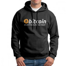 Men Bitcoin In Cryptography We Trust Hoodies Travel 100% Cotton Hooded Sweatshirt Casual Hooded Tops  - Crypto Kicks