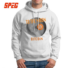 Men Bitcoin Landing To The Moon Hoodies Original Purified Cotton Hooded Sweatshirt Novelty Hooded Tops  - Crypto Kicks