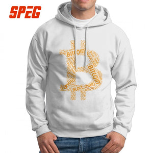 Men's Sweatshirt Bitcoin Revolution Block Chain Crypto Word 100% Cotton Printed Novelty Hoodie Pullovers  - Crypto Kicks