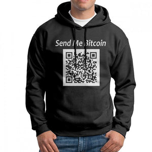 Stylish Hoodies Man Crypto Currency Hoodie Send Me Bitcoin Purified Cotton Sweatshirt Wholesale Hoodie Shirt  - Crypto Kicks