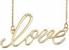 LOVE Necklace with Diamonds - LaRo Jewelers