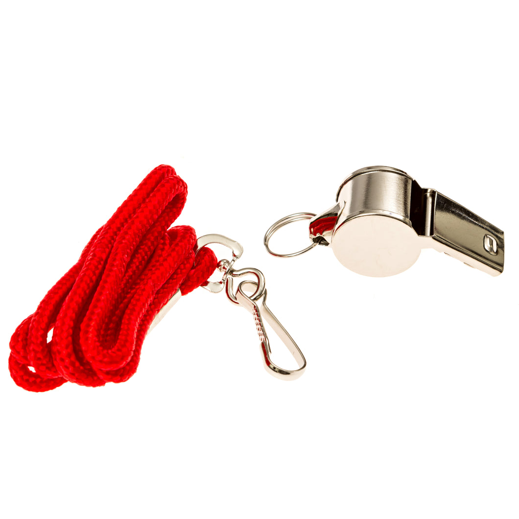 Lifeguard Metal Whistle and Lanyard - BLARIX