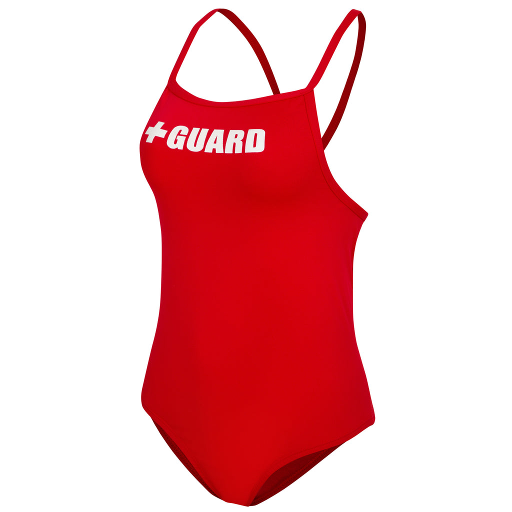 Lifeguard Swimsuit 1 Piece Thin Strap - BLARIX