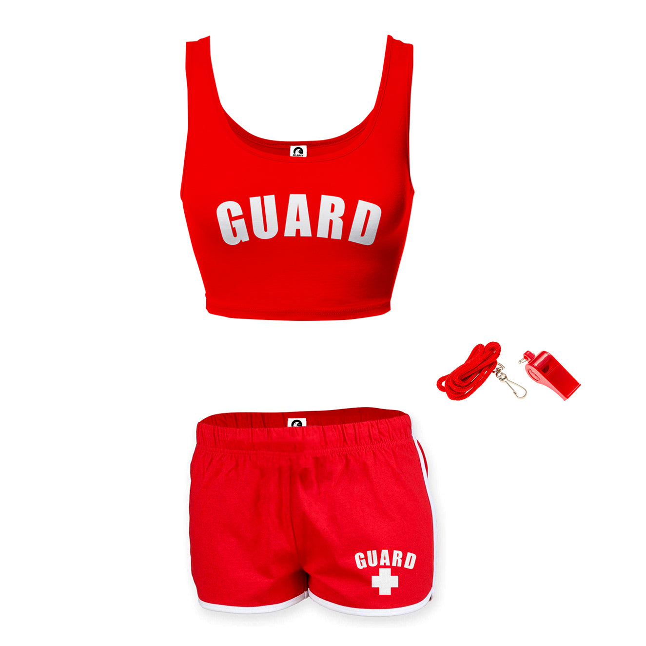 Womens Lifeguard Crop Top Outfit - BLARIX