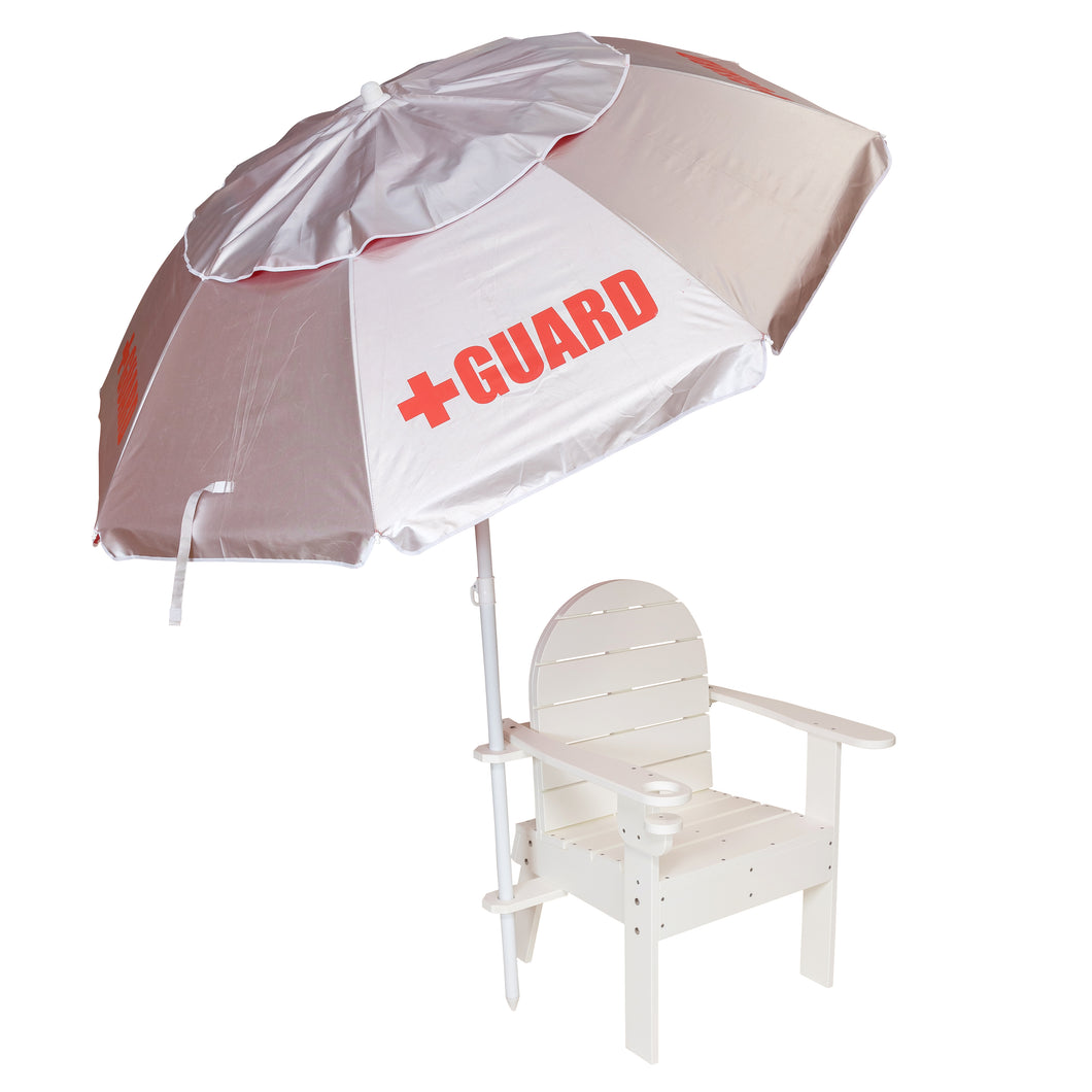 Lifeguard Chair and Umbrella