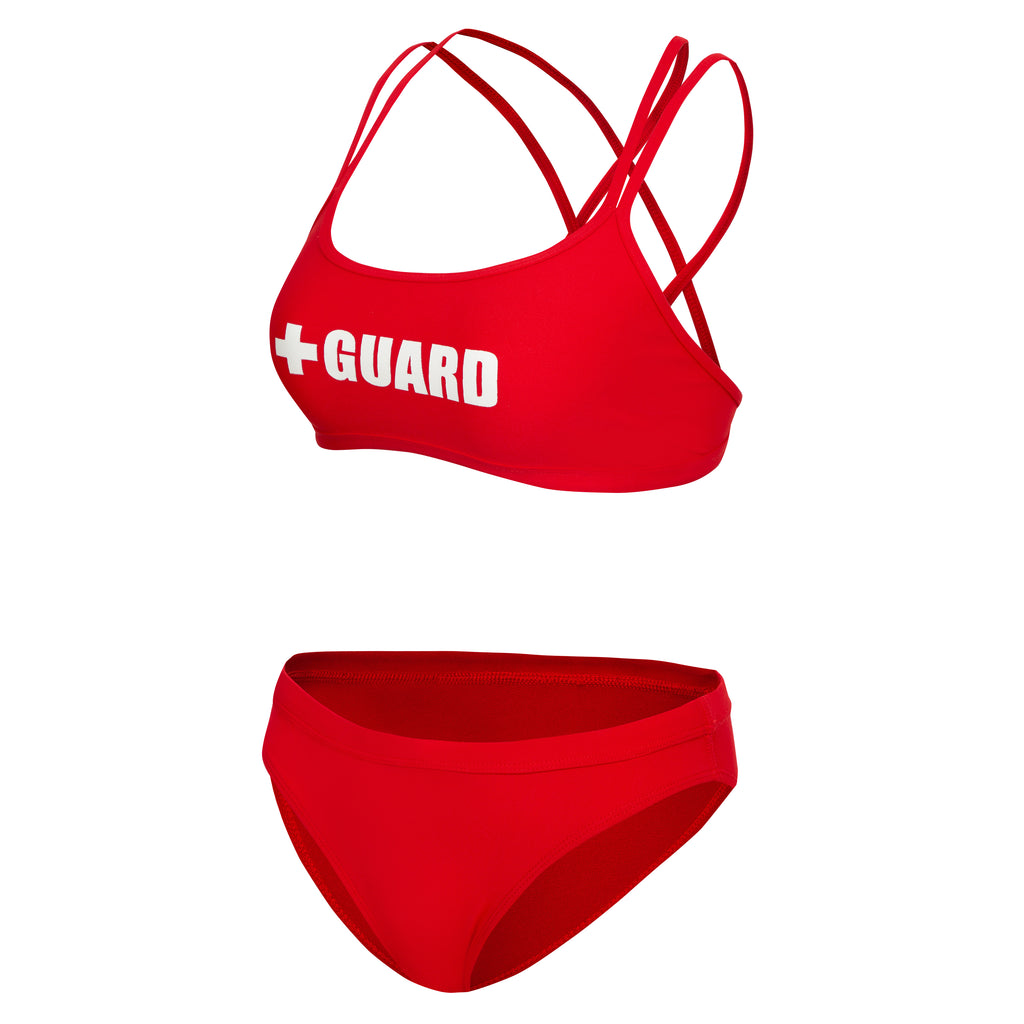 Lifeguard Swimsuit Double Cross Strap 2PC - BLARIX