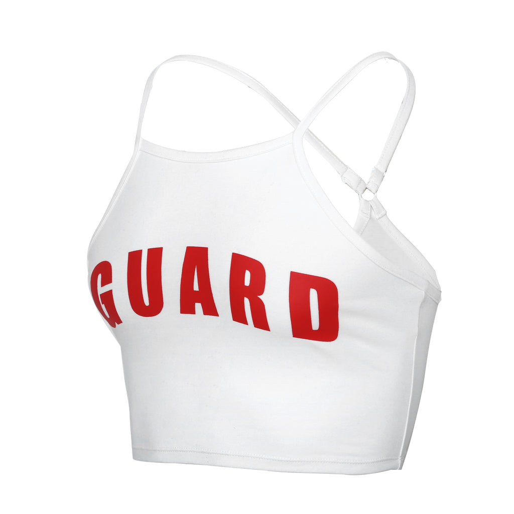 Lifeguard Spaghetti Strap Crop Top