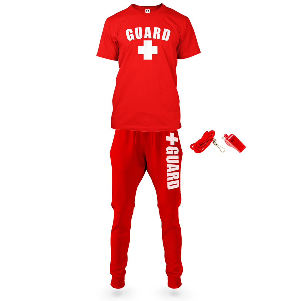 Mens Lifeguard T-Shirt and Joggers Outfit - BLARIX