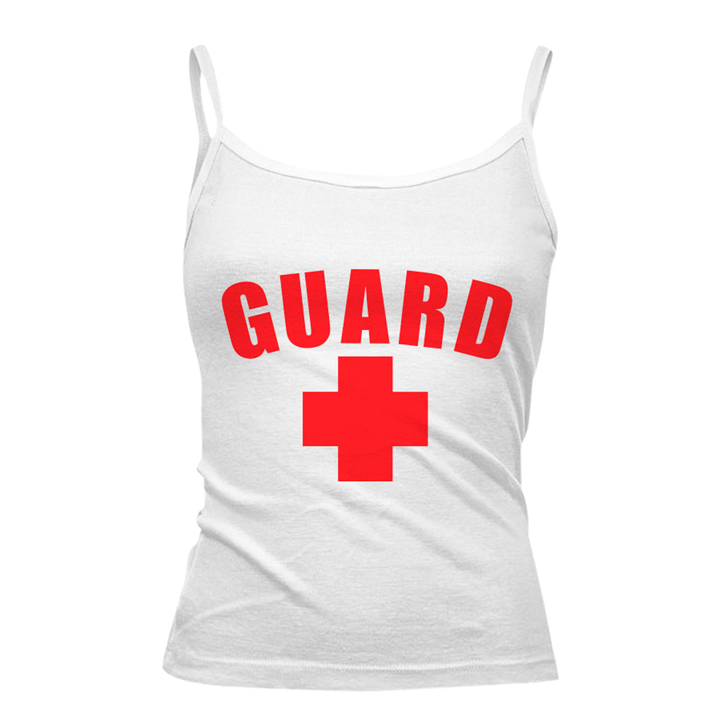 Womens Lifeguard Spaghetti Strap Tank Top - BLARIX