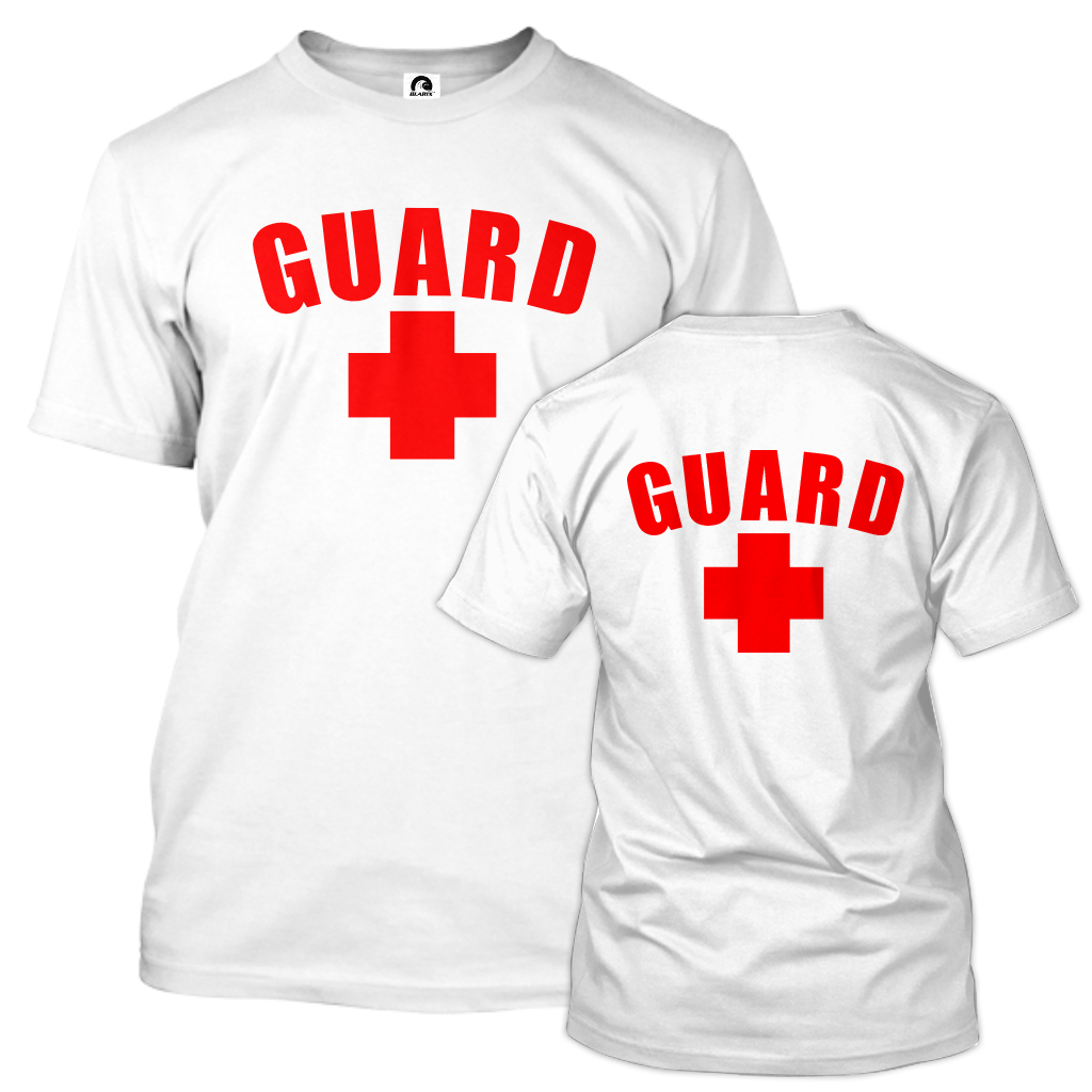 Lifeguard T-Shirt Front and Back - BLARIX