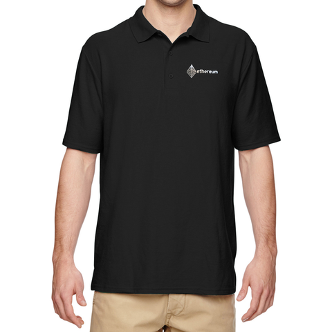 Ethereum Embroidered Polo