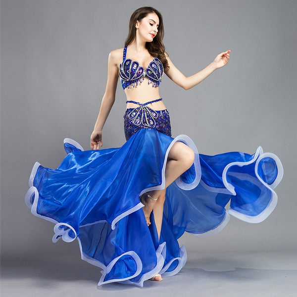 New Dance Women's Designer Belly Dance Costume Set