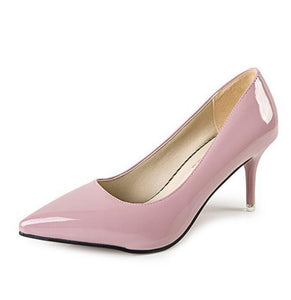 -Women's Fashion Footwear Brand Designer Style Color Contrasting Illusive Stiletto Heels
