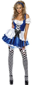 Women's Alice in Wonderland Costume, Dress and Hat, Troops