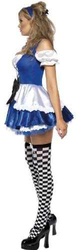 Women's Alice in Wonderland Costume, Dress and Hat, Troops - ICU SEXY