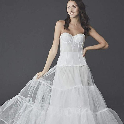 Women's Wedding Ball Gown Silhouette Slip Style - ICU SEXY