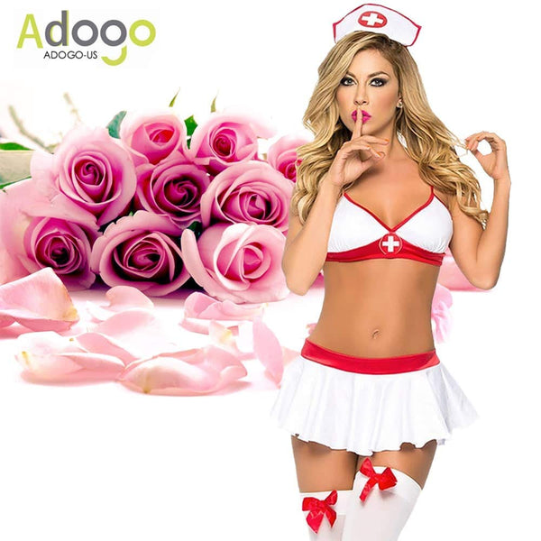 Sexy Lingerie Nurse Costume Outfit Set Nurse Cosplay Free Size - ICU SEXY