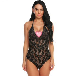 Sexy Set V-Neck Bodysuit Deep One Piece Sexy Lingerie Lace Teddy