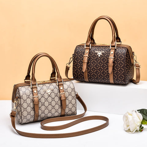 Women's Popular Brand Fashion Print Top Handle Handbag