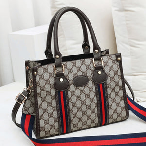 Women's Popular Brand Designer Pattern Top Handle Handbag