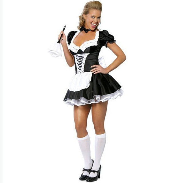 Women's Sexy French Maid Servant Costume