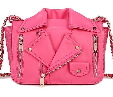 Women's PU Leather Tassel Pink Candy Color Famous Luxury Designer Brand - icu-sexy