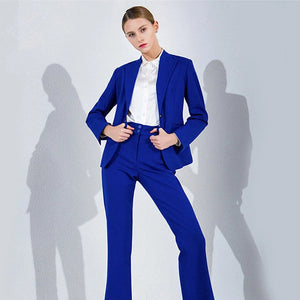 Fashionable Formal Royal Blue Tailored Business Work Wear 2 Piece Suit