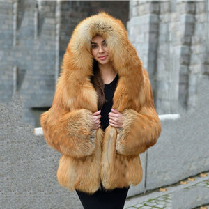 Women's Top Winter Fashion Elegant Thick Warm Natural Color Faux Fur Overcoat - ICU SEXY