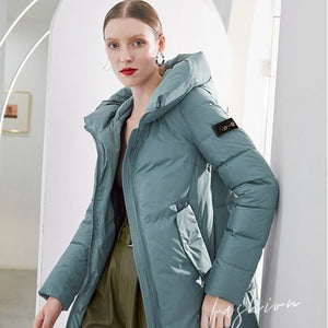 Women New English Vintage Style Solid Quilted Parka - ICU SEXY