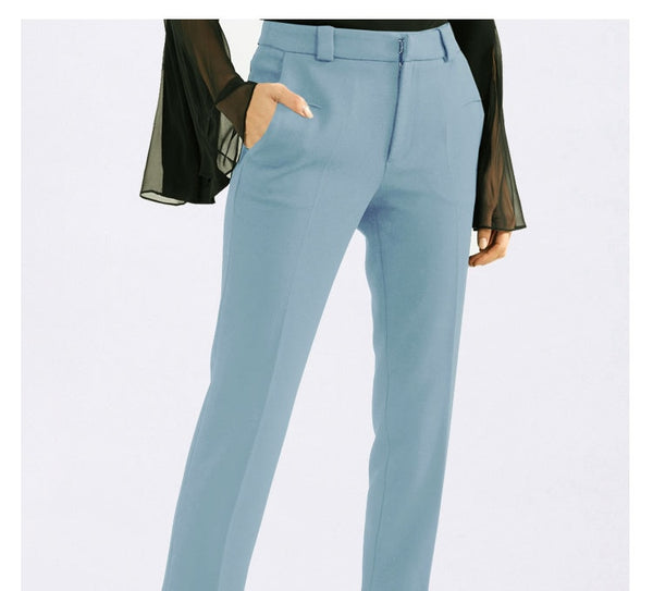 Women's 2 Piece Powder Formal Blue Pants Suit - ICU SEXY