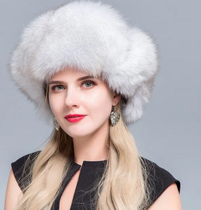 New Arrival Stylish Thick Fox Fur Russian Bomber Hat