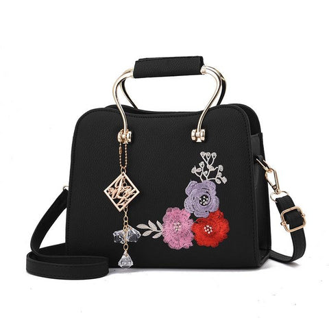 Women's Fashion Floral Embroidered Vintage Handbag in 6 Colors