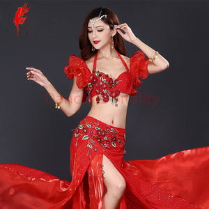 New Professional Belly Dancing Performance Costume in Multi Colors S M L