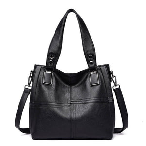 Women's High Quality Solid Patchwork Luxury Fashion Tote Bag in 4 Colors