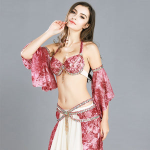 Professional Belly Dance Competition Costume Set 3PCS