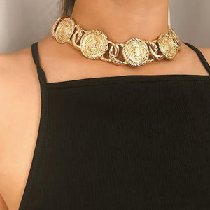 Trendy Hip Hop Chain Link Bling Choker Necklace
