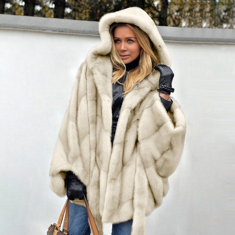 New Winter Fashion High Quality Thick Imitation Thick Mink Fur Coat - ICU SEXY